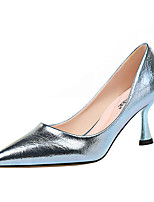 cheap -Women's Heels Pumps Pointed Toe Sexy Party & Evening Solid Colored PU Black / Blue / Light Grey