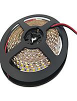 Недорогие -5м гибкие светодиодные полосы света гибкие фонари tiktok 600 светодиодов 2835 smd 4 мм 1шт теплый белый / белый / красный срезаемый / подходит для транспортных средств / самоклеящийся 12 В