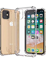 cheap -Case For Apple iPhone 11 / iPhone 11 Pro / iPhone 11 Pro Max Shockproof / Dustproof / Ultra-thin Back Cover Transparent / Solid Colored TPU