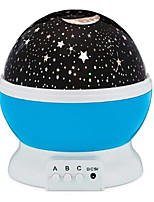 cheap -Star projector moon Lamp starry Night Light LED star light lampara luna USB Bedroom Party rechargeable night light for child