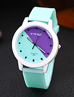 cheap -Men and Women Sport Watch Quartz Silicone White / Blue / Pink Chronograph Cute New Design Analog New Arrival Fashion - White Purple Blushing Pink One Year Battery Life