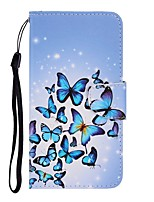 cheap -Case For Samsung Galaxy Galaxy S10 / Galaxy S10 Plus / Galaxy S10 E Wallet / Card Holder / with Stand Full Body Cases Butterfly PU Leather