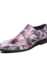 cheap -Men's Summer Casual Daily Office & Career Oxfords Walking Shoes PU Breathable Non-slipping Wear Proof Black / Purple / Blue