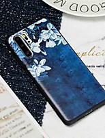 cheap -Case For Huawei Huawei P20 / Huawei P20 Pro / Huawei P20 lite Frosted / Pattern Back Cover Flower TPU