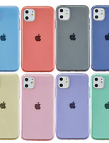 cheap -Case For Apple iPhone 11 / iPhone 11 Pro / iPhone 11 Pro Max Frosted / Transparent Back Cover Solid Colored TPU