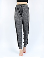 cheap -Women's Sporty Yoga Quick Dry Loose Daily Holiday Jogger Pants Striped Full Length Black Gray