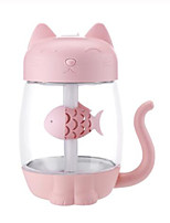 cheap -3 in 1 350ML USB Cat Air Humidifier Ultrasonic Cool-Mist Adorable Mini Humidifier With LED Light Mini USB Fan for Home office