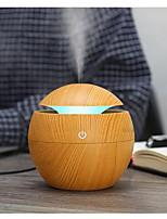 cheap -Mquina de aromaterapia para el hogar humidificador con forma de seta humidificador redondo de grano de madera