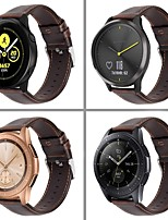 cheap -Smartwatch Band for Samsung Galaxy 46 / Gear S3 /S3 classic /S3 Frontier / Gear 2 R380/ 2 Neo R381 sport Band High-end Comfortable Leather Loop Genuine Leather Wrist Strap 22mm
