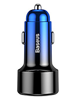 cheap -Baseus Magic Series PPS digital display (Type-c PDQC) Intelligent dual quick charging and car charging of 45W Red/Blue