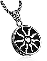 cheap -Men's Pendant Necklace Geometrical Sun Fashion Titanium Steel Silver 50 cm Necklace Jewelry 1pc For Gift Daily
