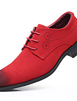 cheap -Men's Summer / Fall Classic / Casual Daily Office & Career Oxfords Faux Leather Non-slipping Wear Proof Black / Red / Blue Gradient