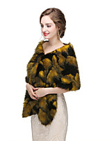 cheap -Sleeveless Faux Fur Wedding Women's Wrap With Solid Capelets