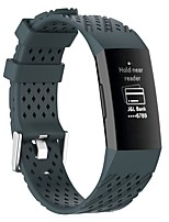 cheap -Watch Band for Fitbit Charge 3 / Fitbit Charge 4 Fitbit Sport Band / Modern Buckle Silicone Wrist Strap