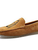 cheap -Men's Pigskin Fall / Spring & Summer Casual / British Loafers & Slip-Ons Breathable Blue / Brown / Black