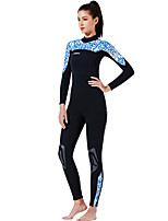 cheap -Dive&Sail Women's Full Wetsuit 1.5mm CR Neoprene Diving Suit Anatomic Design Long Sleeve Back Zip Patchwork Autumn / Fall Spring Winter / High Elasticity
