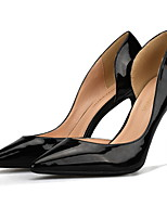 cheap -Women's Heels Stiletto Heel Pointed Toe PU Winter Black / Nude / White