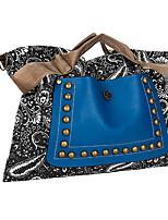 cheap -Women's PU Top Handle Bag Solid Color Blue