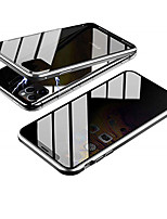 cheap -Case For Apple iPhone 11 / iPhone 11 Pro / iPhone 11 Pro Max Shockproof / Dustproof / Translucent Full Body Cases Transparent / Solid Colored Tempered Glass / Metal