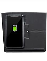 abordables -chargeur de téléphone sans fil double téléphone charge auto antidérapant support de voiture automatique pour tesla modèle 3 pour tous les appareils Android compatibles qi
