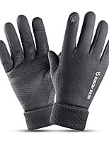 cheap -Winter Bike Gloves / Cycling Gloves Windproof Warm Wearable Stretchy Full Finger Gloves Sports Gloves Fleece Black Grey Coffee for Adults Cycling / Bike Activity & Sports Gloves