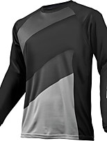 cheap -21Grams Men's Long Sleeve Cycling Jersey Downhill Jersey Dirt Bike Jersey Winter 100% Polyester Black Bike Jersey Top Mountain Bike MTB Road Bike Cycling Thermal / Warm UV Resistant Breathable Sports