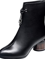 cheap -Women's Boots Chunky Heel Pointed Toe PU Fall Black