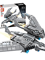 cheap -Building Blocks Military Blocks Vehicle Playset 722 pcs Military compatible Legoing Simulation Rocket & Spaceship All Toy Gift / Kid's / Educational Toy