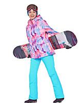 abordables -Phibee Femme Veste et Pantalons de Ski Ski Camping / Randonnée Sports d'hiver Coupe Vent Chaud Sports d'hiver Mélange poly & coton Veste Chaud Pantalons Chauds Ensembles de Sport Tenue de Ski / Hiver