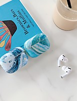 cheap -Case For AirPods Pro Colorful marble pattern water paste frosted TPU material Bluetooth headset protective shell
