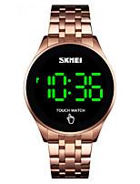 cheap -SKMEI Men's Digital Watch Digital Sporty Stainless Steel Black / Silver / Gold Water Resistant / Waterproof Calendar / date / day New Design Digital Outdoor - Black Rose Gold Gold Two Years Battery
