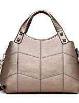 cheap -Women's Zipper PU Top Handle Bag Black / Wine / Orange