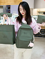 cheap -Women's Zipper Nylon Bag Set Solid Color 4 Pieces Purse Set Black / Blushing Pink / Green