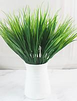cheap -7-Fork Water Grass Decorative Flowers And Plants Plastic Flower Arrangement Accessories Green Plants 5 Sticks