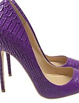 cheap -Women's Heels Stiletto Heel Pointed Toe PU Winter Purple
