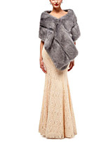 cheap -Sleeveless Rabbit Fur / Faux Fur Wedding / Party / Evening Women's Wrap With Solid / Fur Capelets
