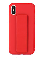 cheap -Case For Apple iPhone XS / iPhone XR / iPhone XS Max with Stand / Frosted Back Cover Solid Colored TPU