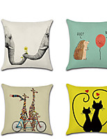 cheap -1pcs Valentine'S Day Animal Cushion Cover Cushion Cover Linen