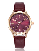 cheap -Women's Quartz Watches Casual Elegant Red PU Leather Chinese Quartz Burgundy New Design Casual Watch 1 pc Analog One Year Battery Life