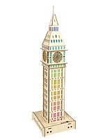 cheap -3D Puzzle Wooden Puzzle Big Ben Simulation Hand-made Wooden 63 pcs Kid's Adults' All Toy Gift