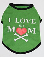 cheap -Dog Shirt / T-Shirt Dog Clothes Green Costume Polyster Letter & Number Cosplay XS S M L