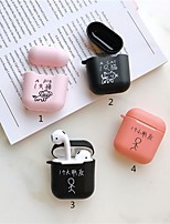 cheap -Case For AirPods Cute / Dustproof Headphone Case Soft