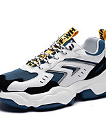 cheap -Men's Novelty Shoes PU Spring & Summer / Fall & Winter Sporty / Preppy Sneakers Running Shoes / Walking Shoes Warm White / Black / Blue / Beige