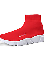 cheap -Men's Comfort Shoes Tissage Volant Spring & Summer / Fall & Winter Sporty / Casual Sneakers Running Shoes / Fitness & Cross Training Shoes Non-slipping Black / Black / White / Red