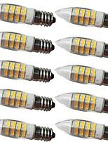 cheap -10pcs 5 W LED Corn Lights LED Bi-pin Lights 360 lm E14 G9 50 LED Beads SMD 2835 Decorative Warm White 220-240 V