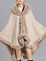 cheap -Sleeveless Faux Fur / Imitation Cashmere / Fox Fur Wedding / Party / Evening Women's Wrap With Solid / Fur Capes