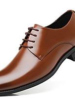 cheap -Men's Comfort Shoes PU Fall & Winter Oxfords Black / Brown