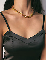 cheap -Women's Choker Necklace Necklace Aluminum Gold 38+7 cm Necklace Jewelry For Gift Daily Street Holiday
