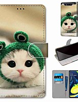 cheap -Case For Samsung Galaxy S10 / S10 Plus / S10 E Wallet / Card Holder / with Stand Frog Cat PU Leather / TPU for A10s / A20s / A50(2019) / A70(2019) / A90(2019) / Note 10 Plus / J6 Plus(2018)