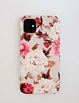 cheap -Case for Apple scene map iPhone 11 11 Pro 11 Pro Max X XS XR XS Max 8 Vintage flowers pattern fine frosted TPU material IMD process all-inclusive mobile phone case